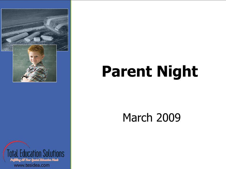 Parent Night March 2009