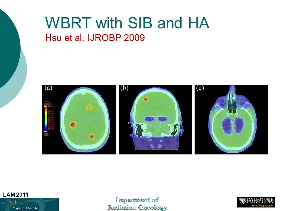 LAM 2011 WBRT with SIB and HA Hsu et al, IJROBP 2009 47