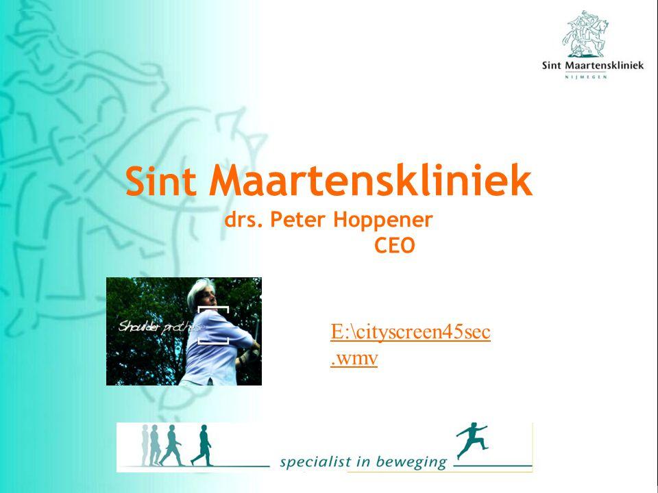 Sint Maartenskliniek drs. Peter Hoppener CEO E:\cityscreen45sec.wmv