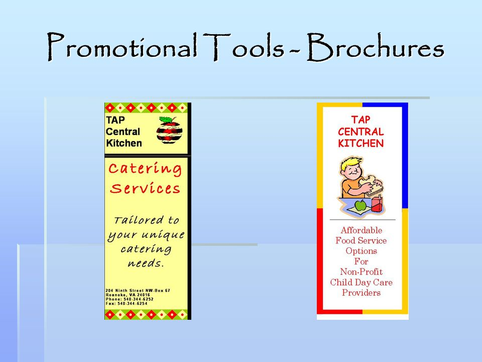 Promotional Tools - Brochures