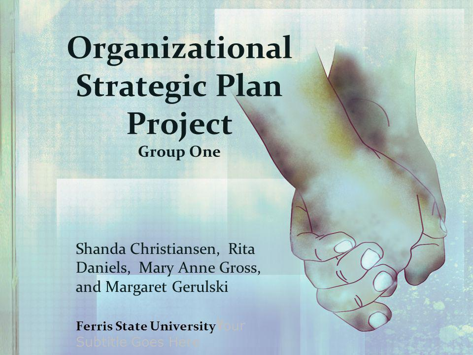 Organizational Strategic Plan Project Group One Shanda Christiansen, Rita Daniels, Mary Anne Gross, and Margaret Gerulski Ferris State University Y our Subtitle Goes Here