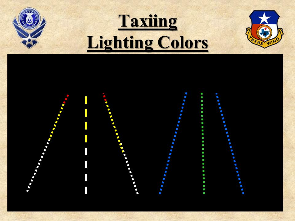 45 Taxiing Lighting Colors