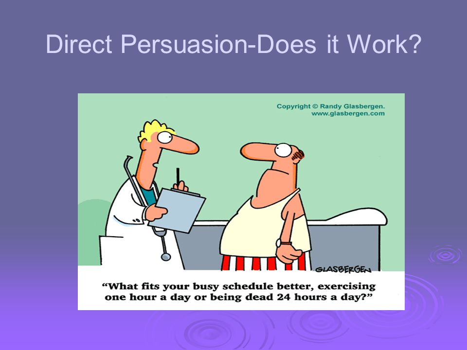 Direct Persuasion-Does it Work?