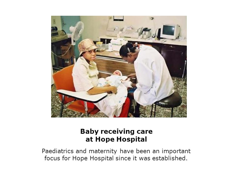 Baby receiving care at Hope Hospital Paediatrics and maternity have been an important focus for Hope Hospital since it was established.