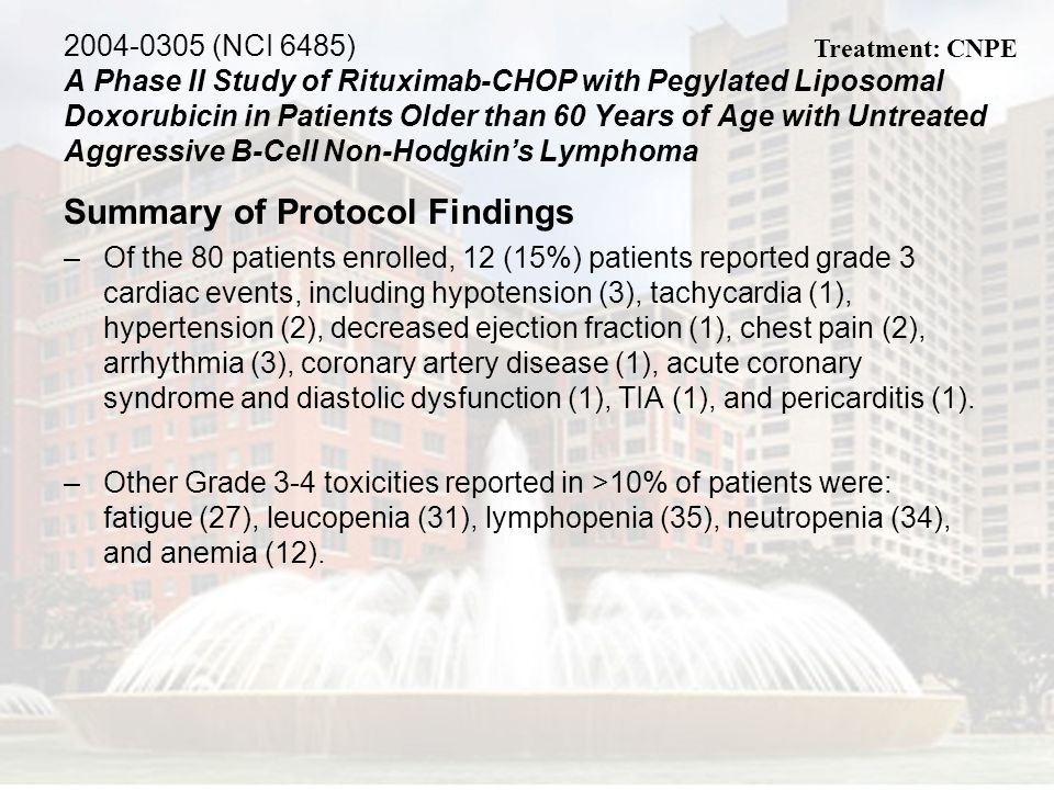 2004-0305 (NCI 6485) A Phase II Study of Rituximab-CHOP with Pegylated Liposomal Doxorubicin in Patients Older than 60 Years of Age with Untreated Agg