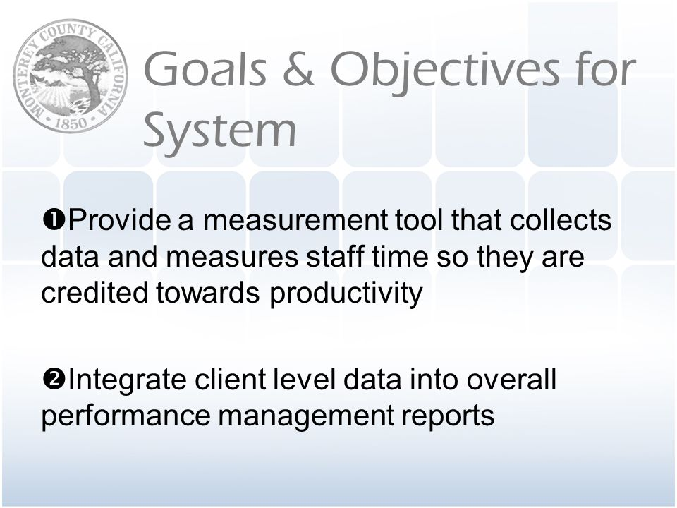 Provide a measurement tool that collects data and measures staff time so they are credited towards productivity
