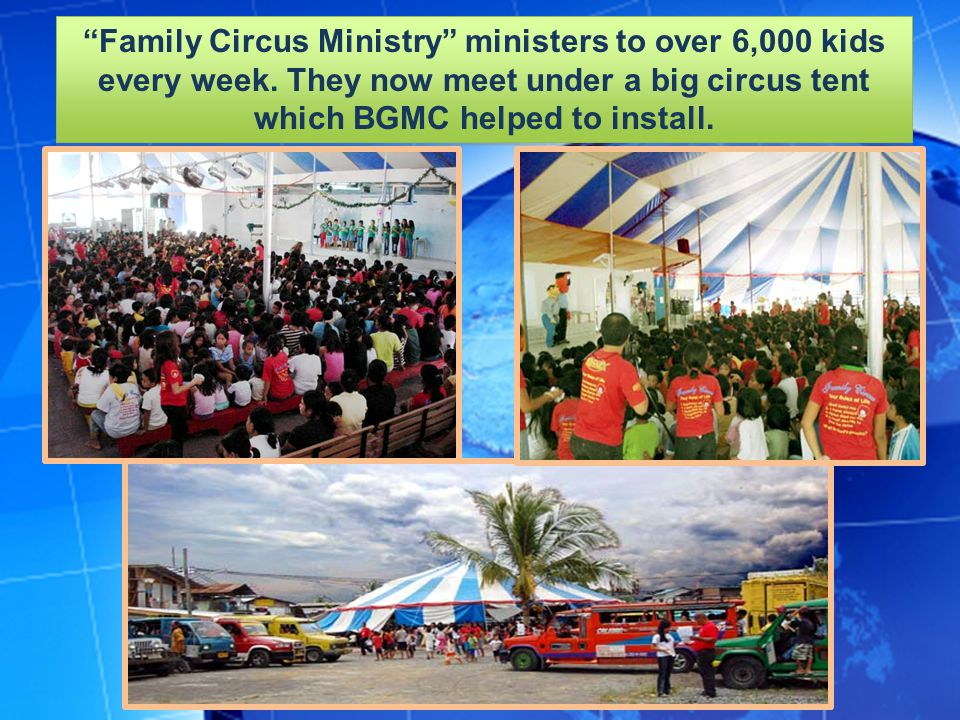 Family Circus Ministry ministers to over 6,000 kids every week.
