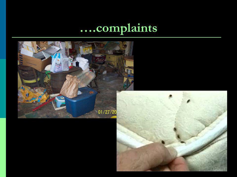 ….complaints