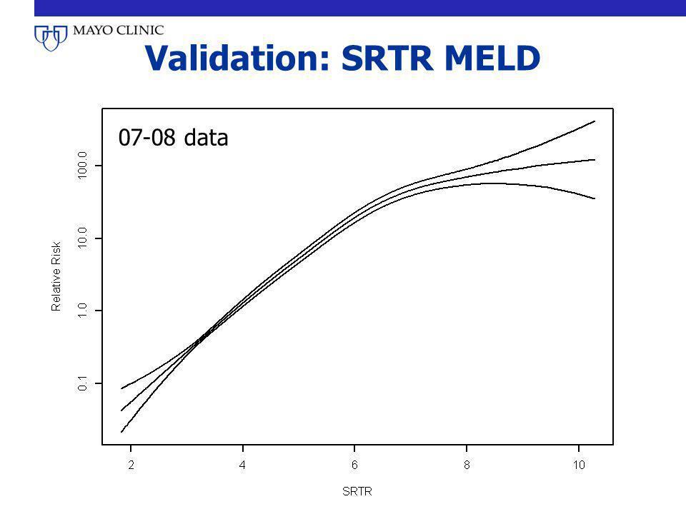 Validation: SRTR MELD 07-08 data