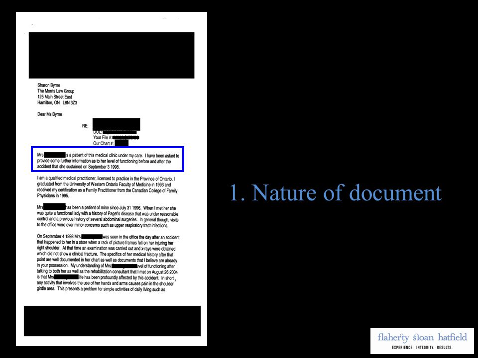 1.Nature of document