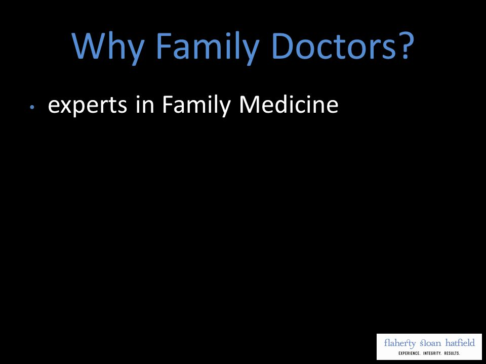 experts in Family Medicine