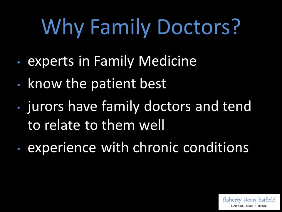 Why Family Doctors.