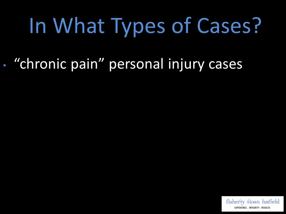 chronic pain personal injury cases