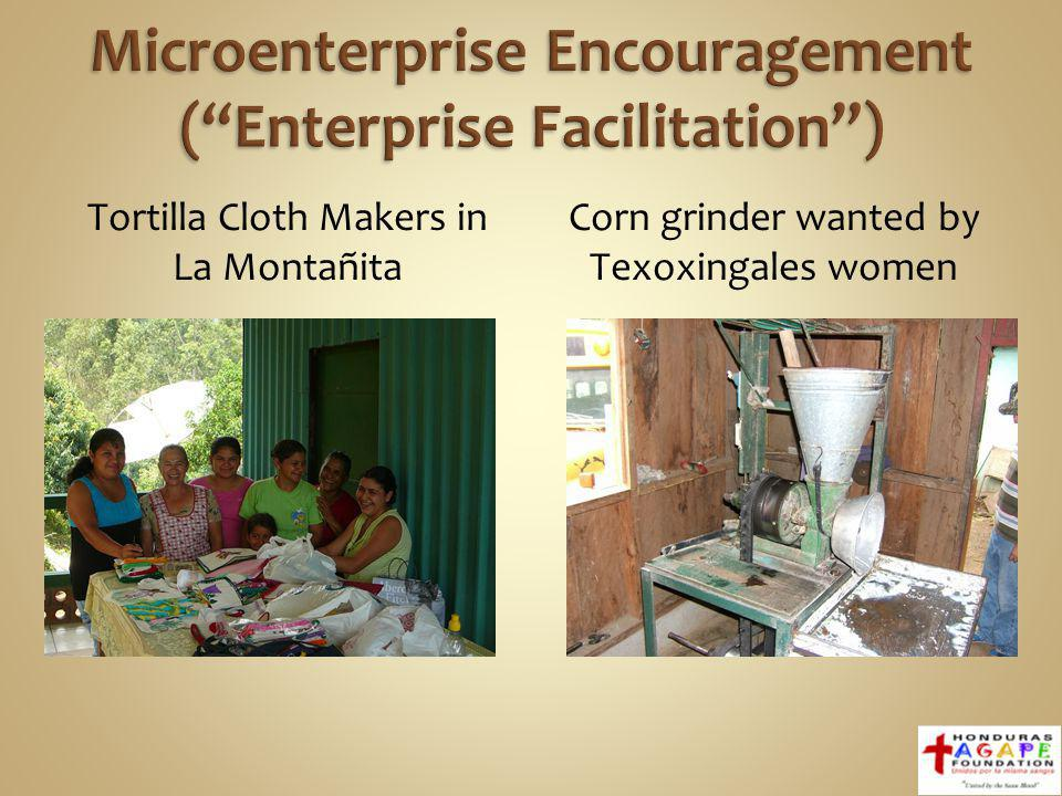 Tortilla Cloth Makers in La Montañita Corn grinder wanted by Texoxingales women Photos of Jan.