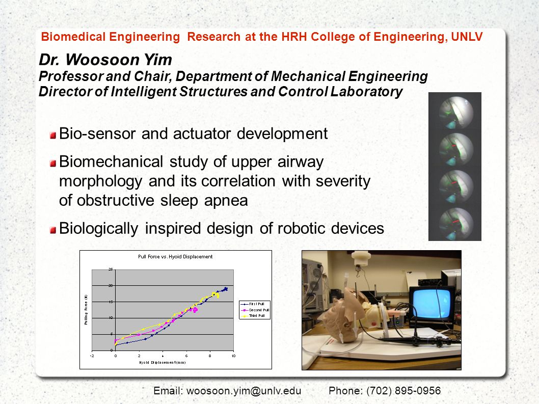 Dr. Woosoon Yim Professor and Chair, Department of Mechanical Engineering Director of Intelligent Structures and Control Laboratory Email: woosoon.yim