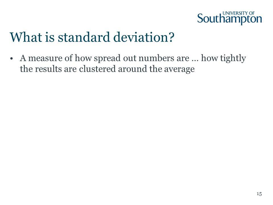 What is standard deviation.