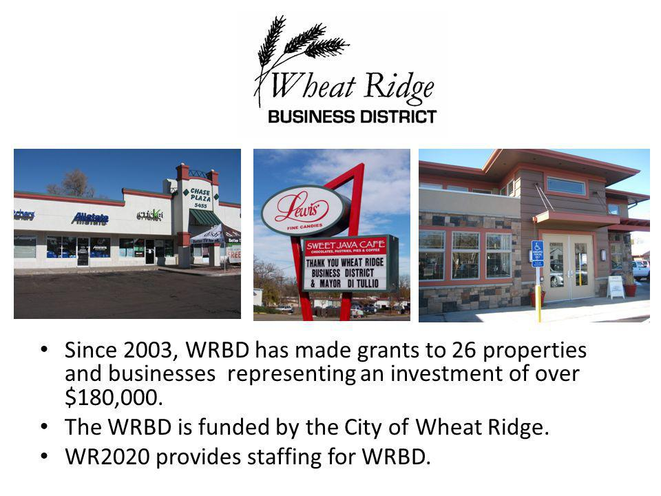 Since 2003, WRBD has made grants to 26 properties and businesses representing an investment of over $180,000.