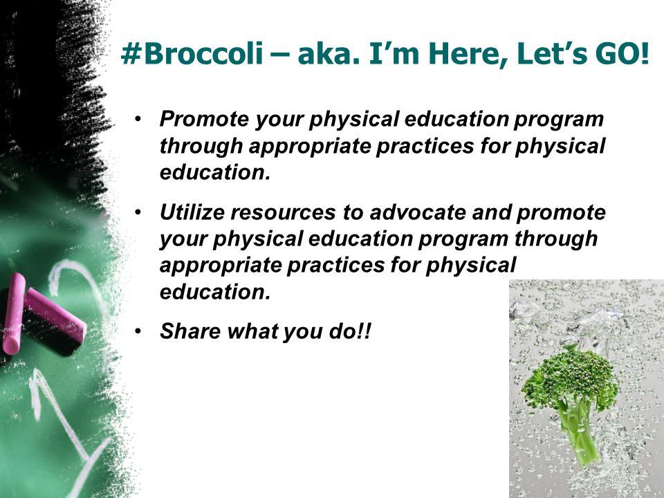 #Broccoli – aka. Im Here, Lets GO! Institute of Medicine Video