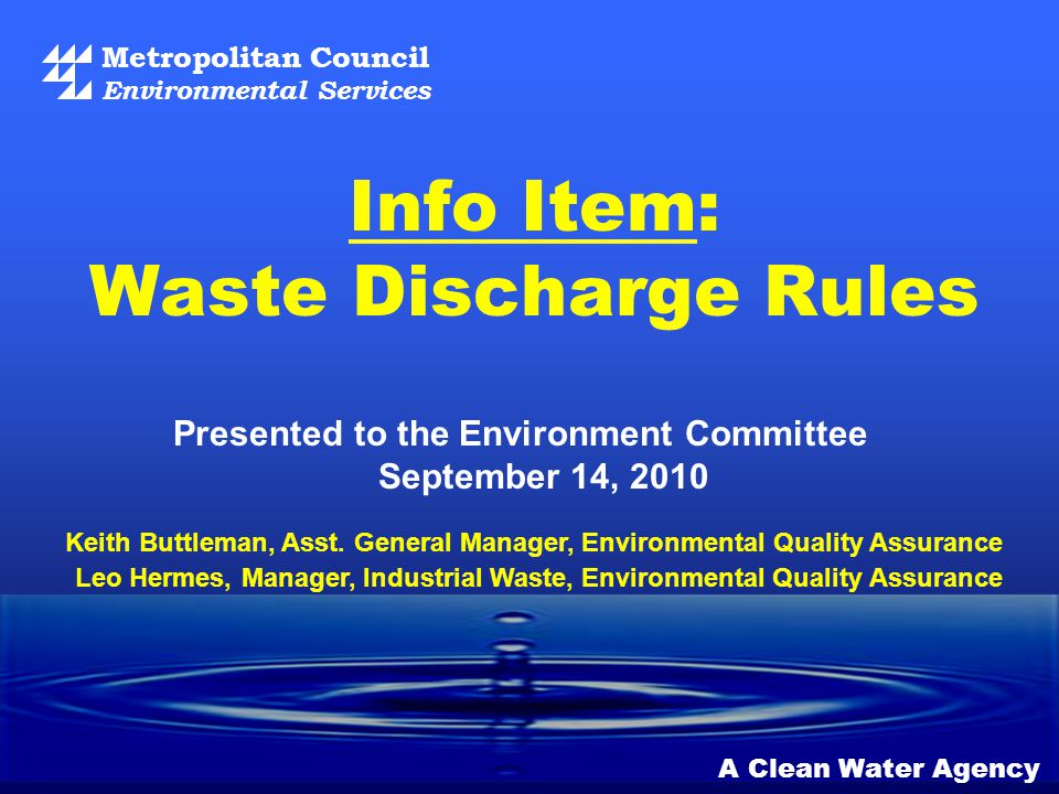 12 Highlights of Other Proposed Waste Discharge Rules Revisions Article IV – MDS Limitations on Discharges: Clarification of procedures for how we apply limits to hauled waste Clarification of requirements for grease interceptors and other separators Requirement to comply with potential regional FOG control program Clarification of requirements regarding prohibited wastes, including clear water discharges and wastes discharged into sewers to avoid off-site solid waste disposal Article V – Enforcement No significant changes proposed