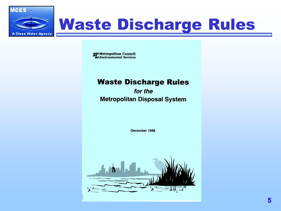 5 Waste Discharge Rules