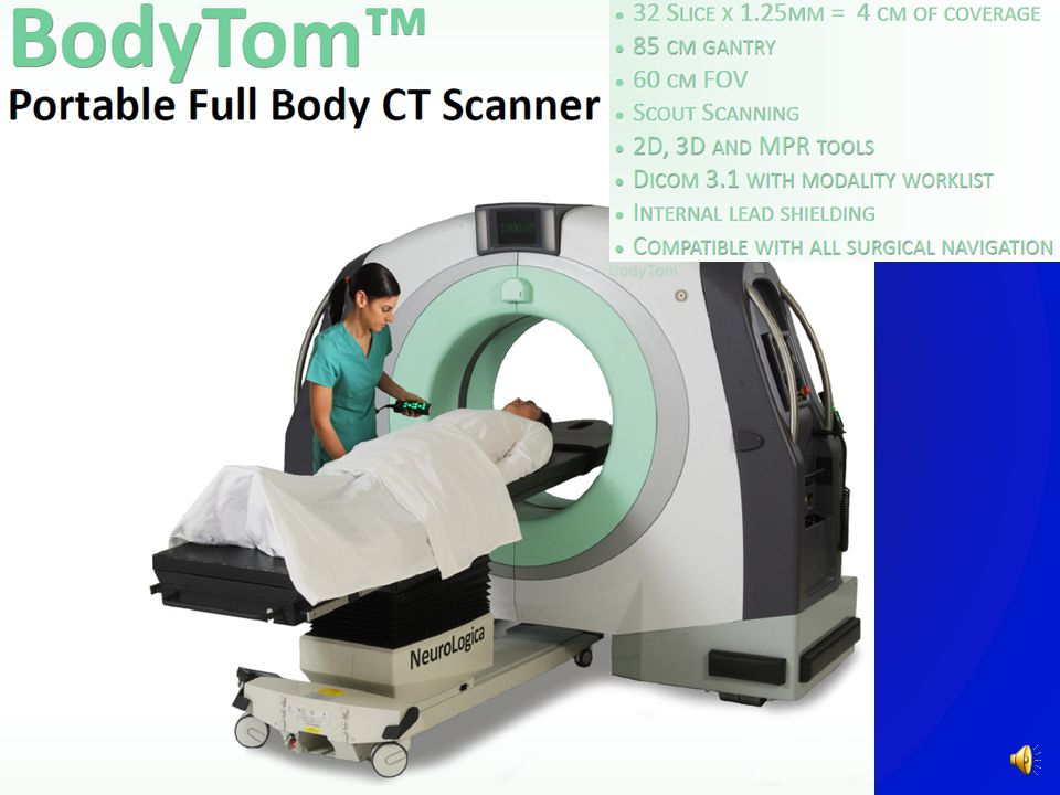 CT Angiography, Contrast & Xenon Perfusion Mobile – On Rollers Can be powered by a car or truck battery with an inverter! Retail cost: $350,000 US