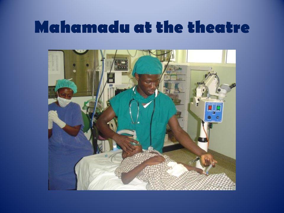 Mahamadu at the theatre