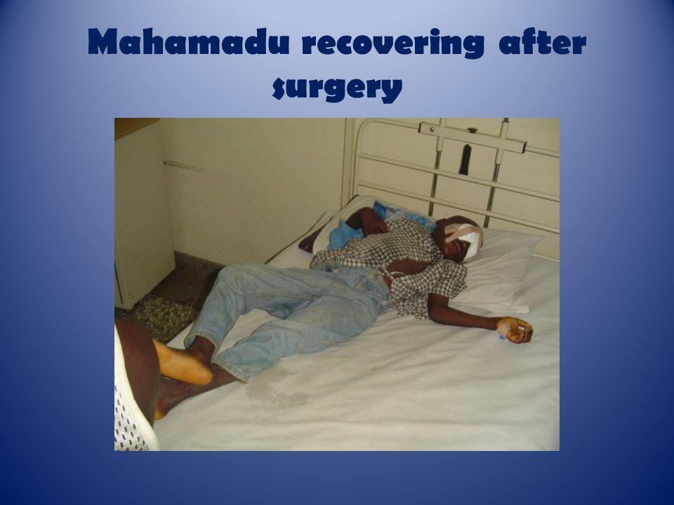 Mahamadu recovering after surgery