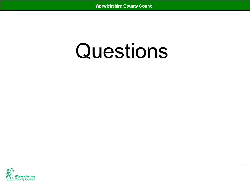Warwickshire County Council Questions
