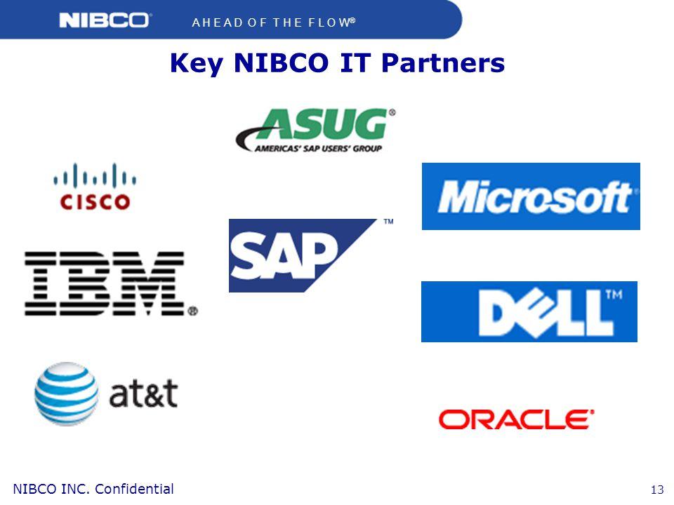 A H E A D O F T H E F L O W ® NIBCO INC. Confidential 13 Key NIBCO IT Partners