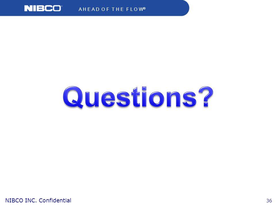 A H E A D O F T H E F L O W ® NIBCO INC. Confidential 36