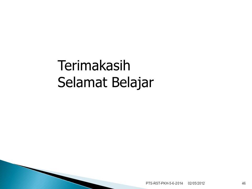 PTS-RST-PKH-5-6-201446 Terimakasih Selamat Belajar 02/05/2012