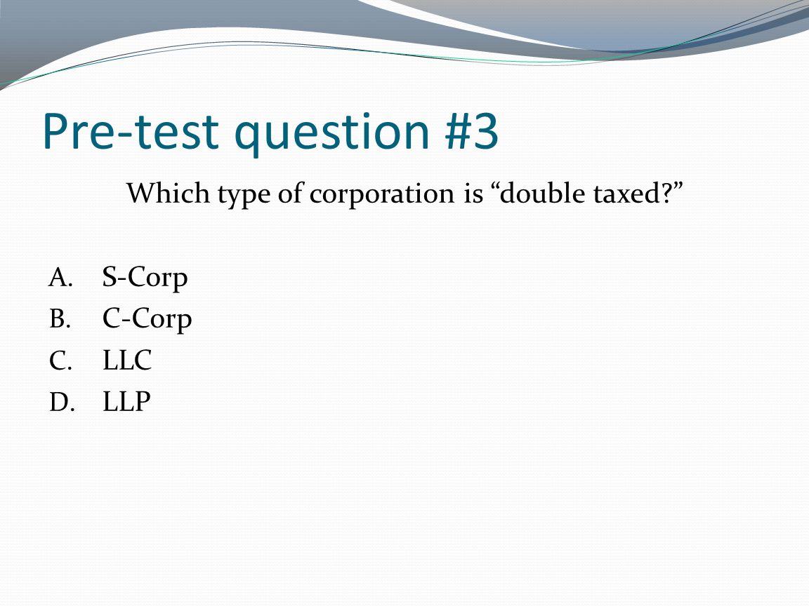 Post-test question #2 A distribution from your corporation does not need to be reported to the IRS as income .