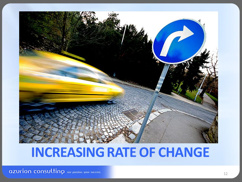 INCREASING RATE OF CHANGE 12