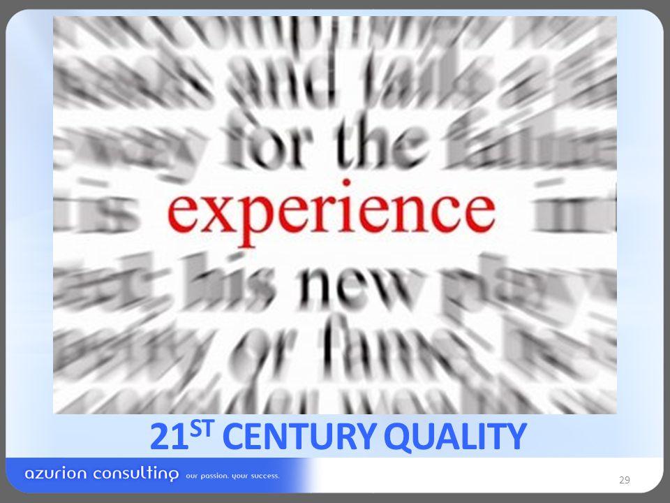 21 ST CENTURY QUALITY 29