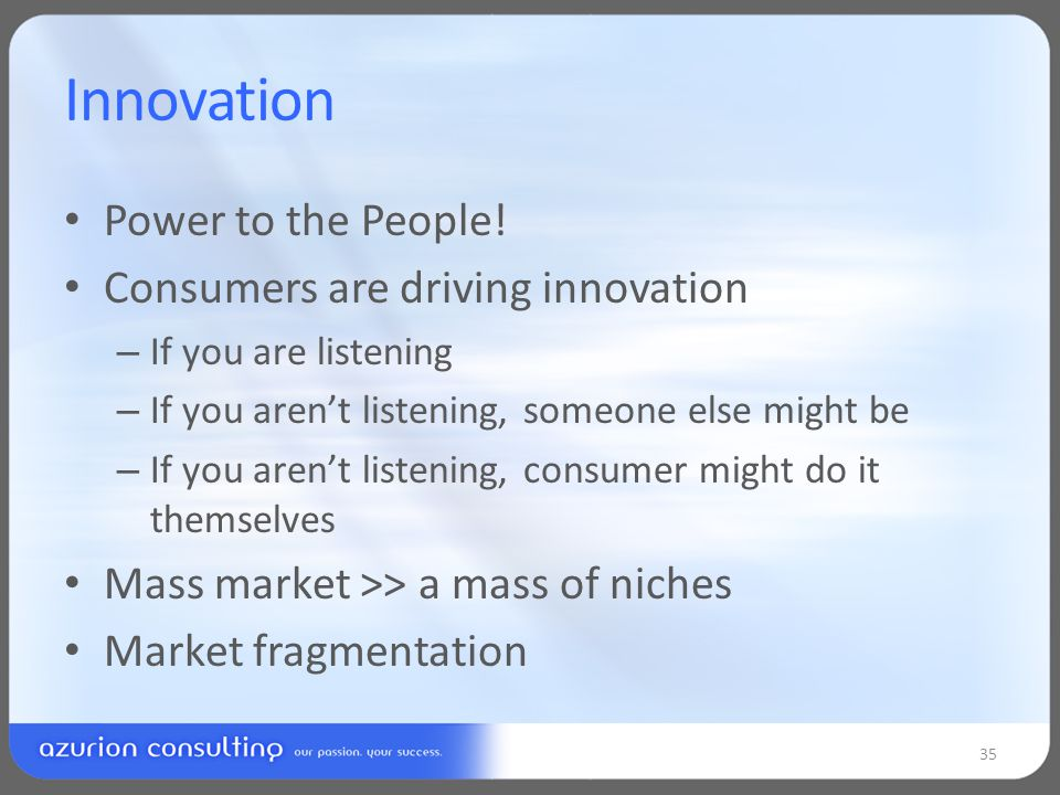 Innovation Power to the People.