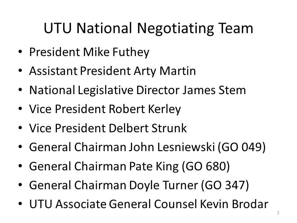 UTU Negotiating Committee 4