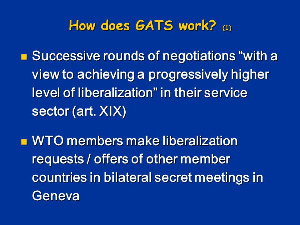 How does GATS work.