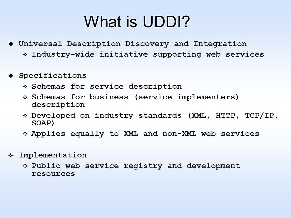 What is UDDI.