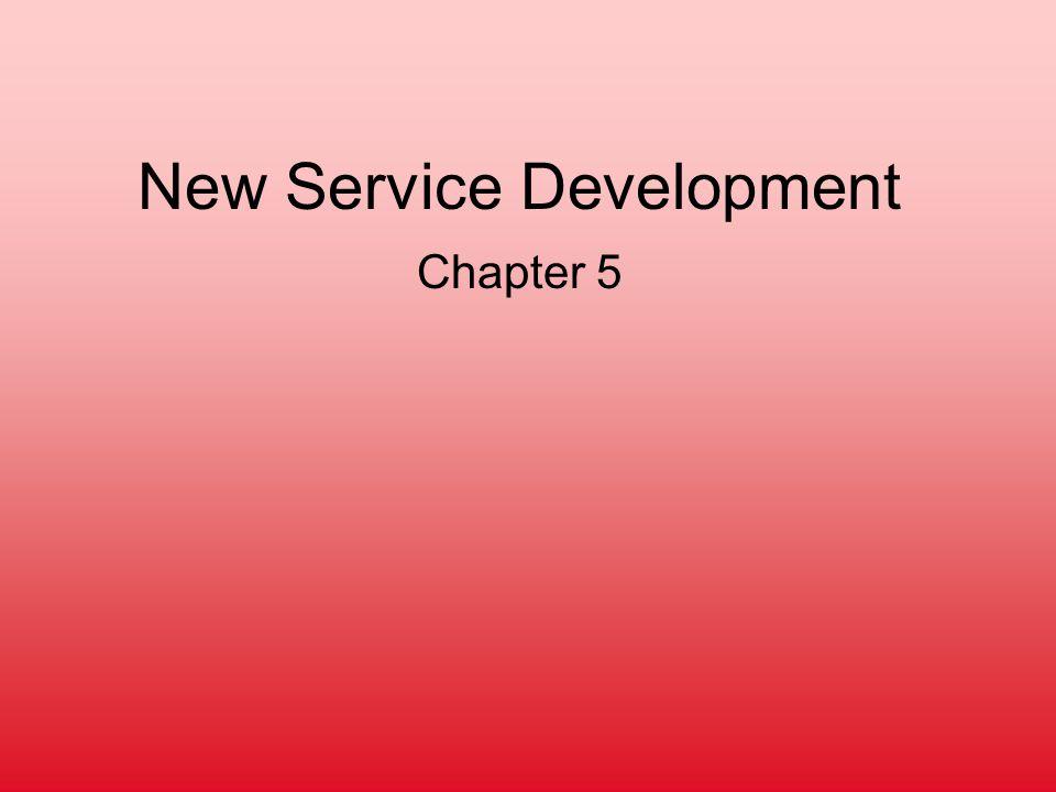 New Service Development Chapter 5