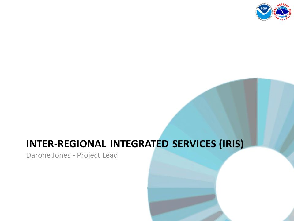 INTER-REGIONAL INTEGRATED SERVICES (IRIS) Darone Jones - Project Lead