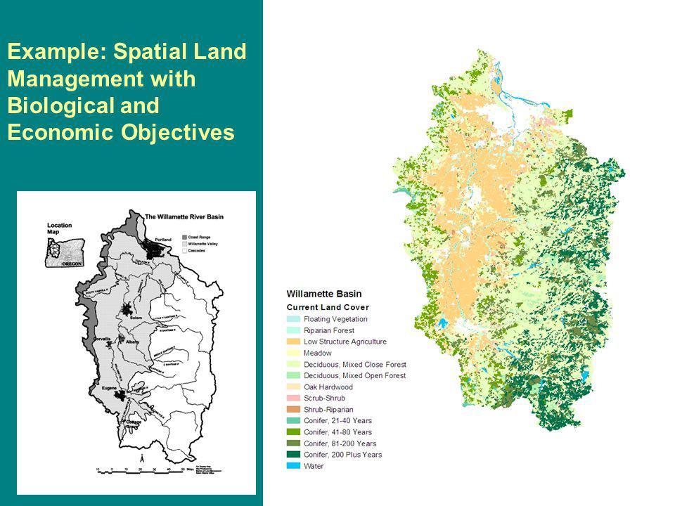 Example: Spatial Land Management with Biological and Economic Objectives
