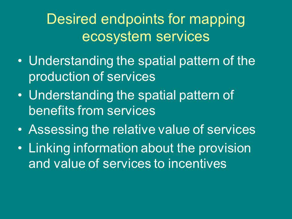 Link to conservation Partnership of interests: ecosystem service provision and conservation of biodiversity often align Partnership in action: mobilize additional resources for conservation
