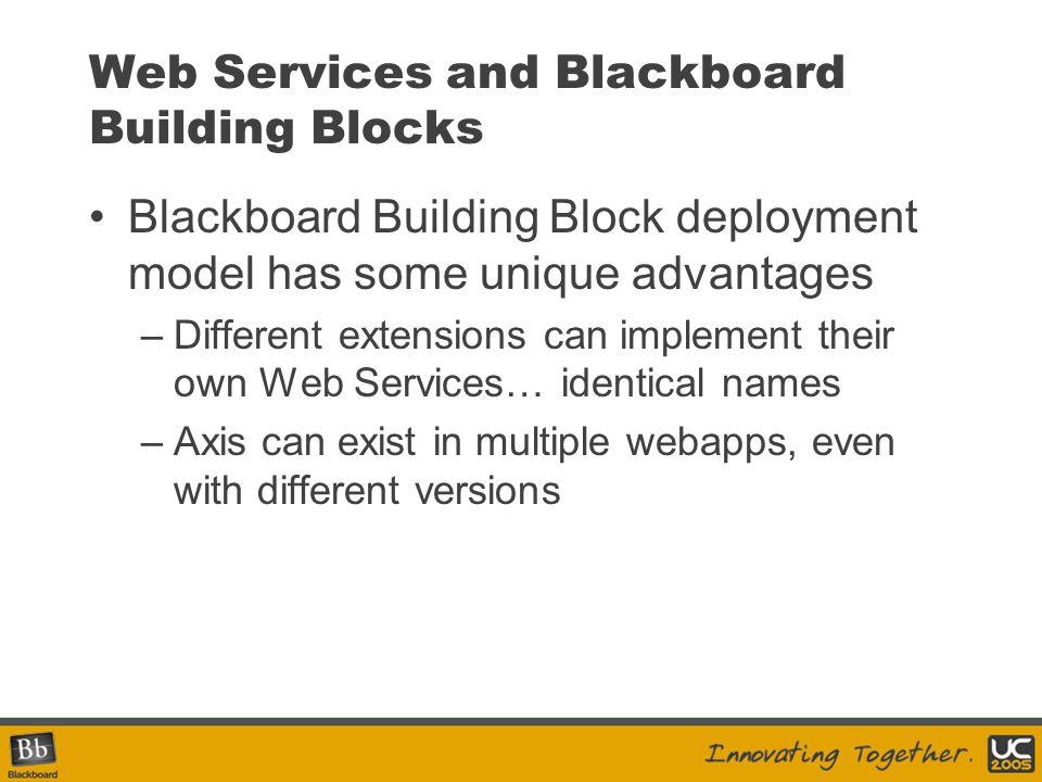 Sample Java Client package blackboard.client; public class SampleClient { public static void main( String[] args ) { try { CourseManagerServiceLocator locator = new CourseManagerServiceLocator(); CourseManager service = locator.getCourseManager(); CourseWrapper[] list = service.getCourseList(...