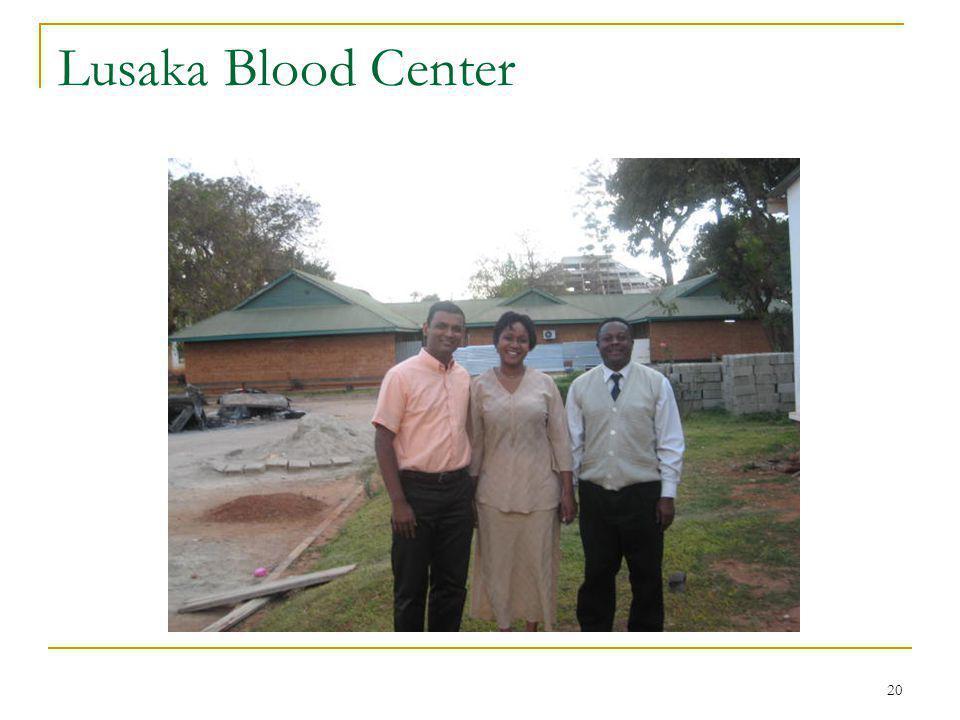 20 Lusaka Blood Center