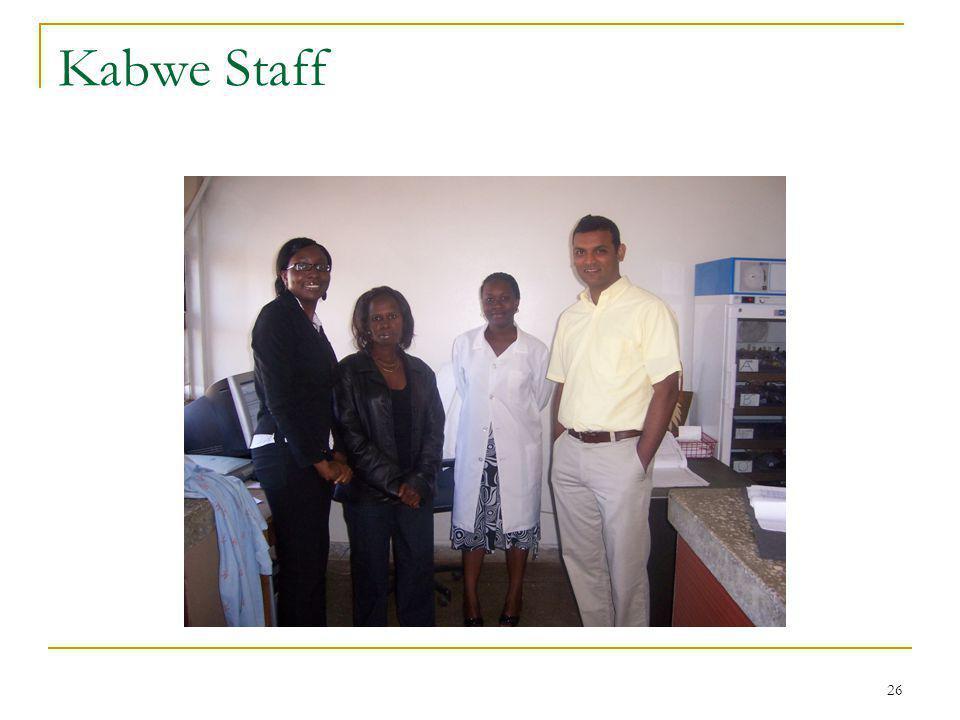 26 Kabwe Staff