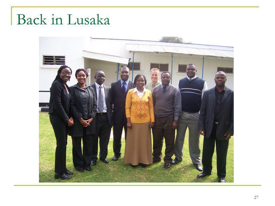 27 Back in Lusaka