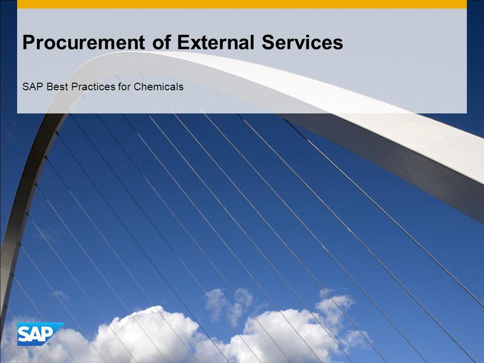 Procurement of External Services SAP Best Practices for Chemicals