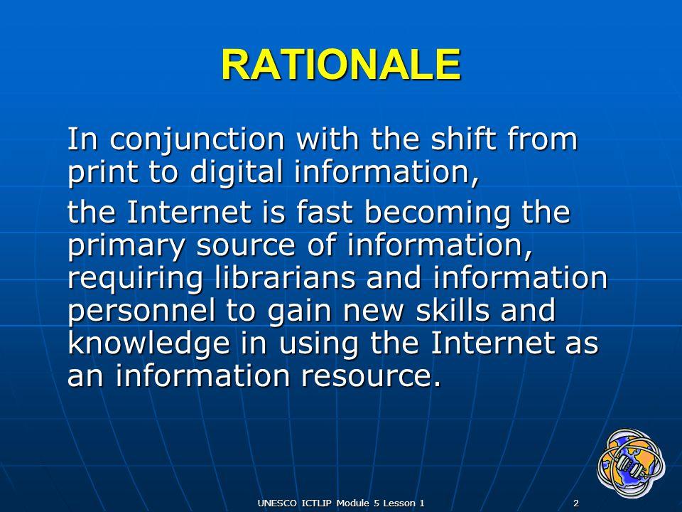 UNESCO ICTLIP Module 5 Lesson 123 How does the Internet work.