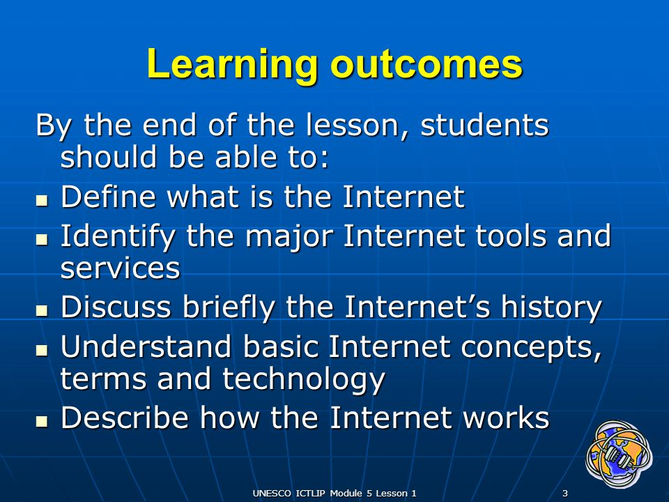 UNESCO ICTLIP Module 5 Lesson 114 World Wide Web (www) Invented in 1991 by Tim Berners-Lee, the web is the fastest-growing Internet service.