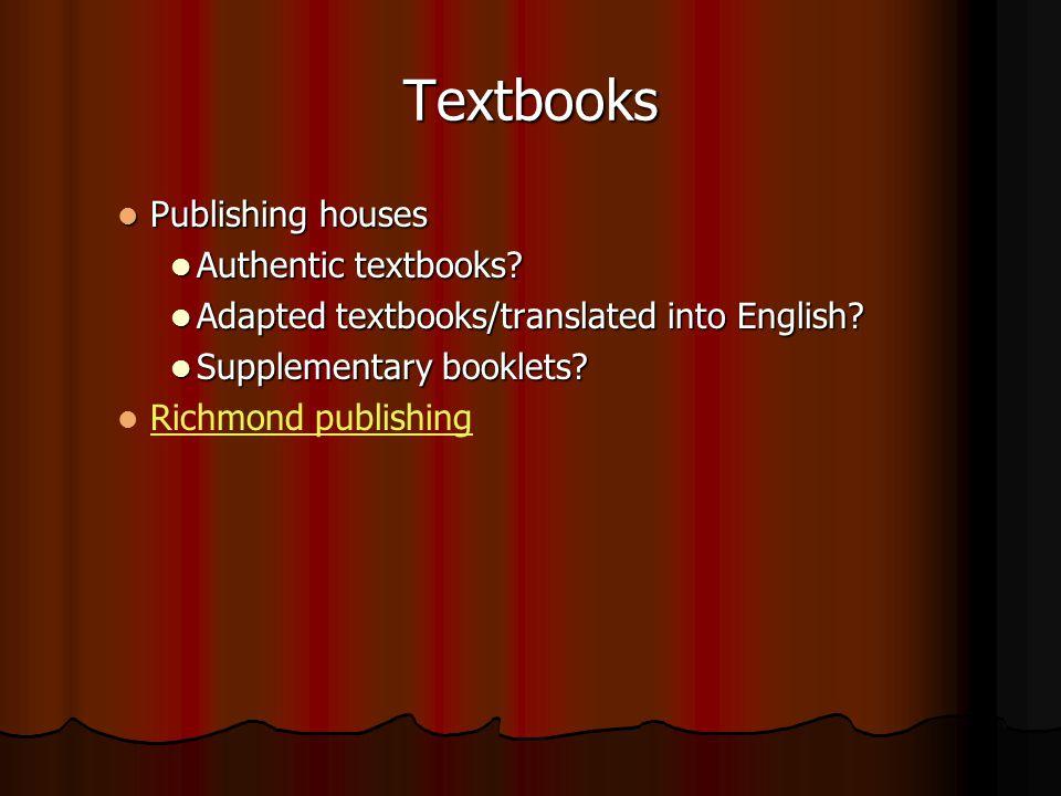 Textbooks Publishing houses Publishing houses Authentic textbooks.